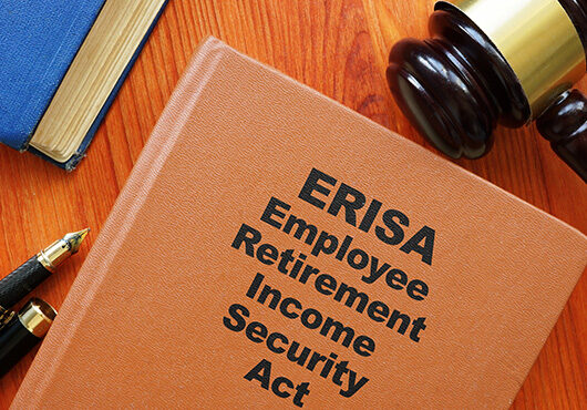 Conceptual photo showing printed text Employee Retirement Income Security Act