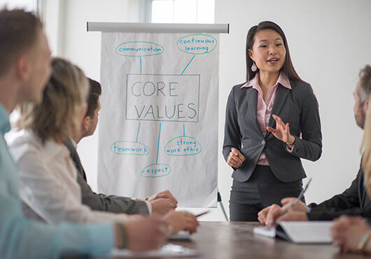 Start Up Company Discussing Values